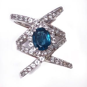 Jewelry - Swiss Blue Topaz Sterling Silver Ring